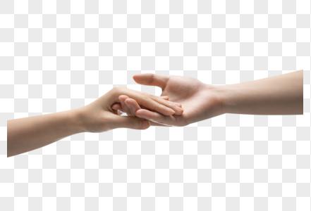 牵手手势图片
