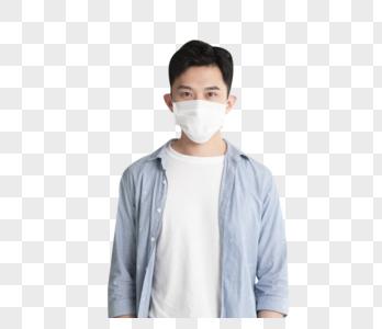 疫情防护戴口罩的年轻人图片