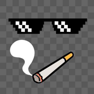 墨镜香烟图片
