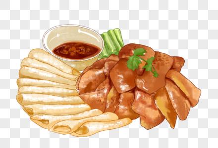 烤鸭水彩图片