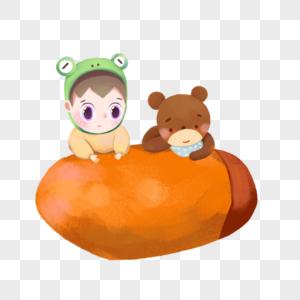 吃番薯的小男孩图片