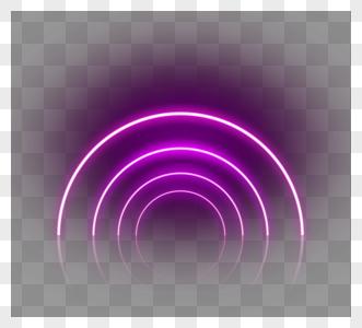 圆线霓虹灯效果框架图片