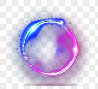 彩色光圆形光环图片