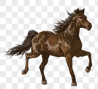 梅赛德斯-奔驰骑马手绘元素图片