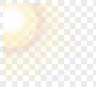 太阳耀斑彩色光图片