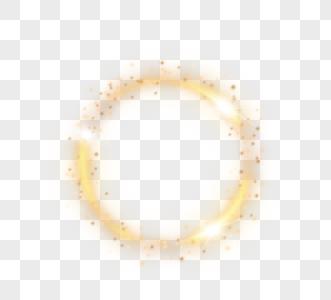 金色魔法圆环形光束图片