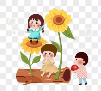 可爱小孩童年欢乐儿童节图片