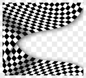 赛车格子旗边框元素图片