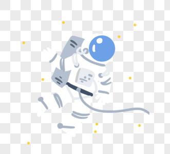 神秘宇航员图片