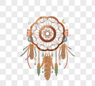 羽毛装饰神秘捕梦网图片