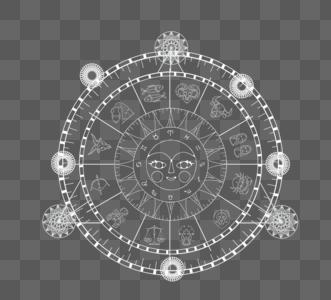 神秘线条占卜命盘图片