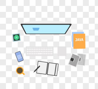程序员电脑桌面俯视图图片