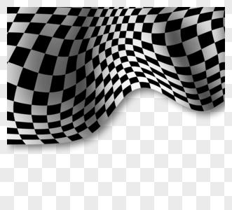 几何赛车格子旗边框图片