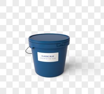 经典蓝涂料桶3d元素图片