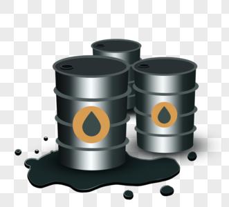石油开采金属渐变桶图片
