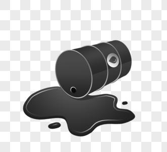 黑色石油原油金属桶图片