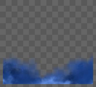 彩色系创意感手绘烟雾图片
