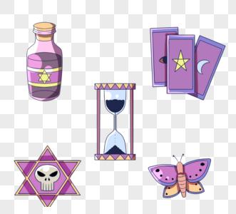 紫色神秘魔法器具图片