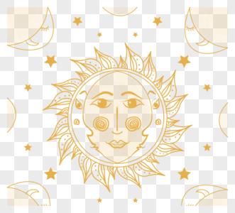 西方神秘太阳月亮图片