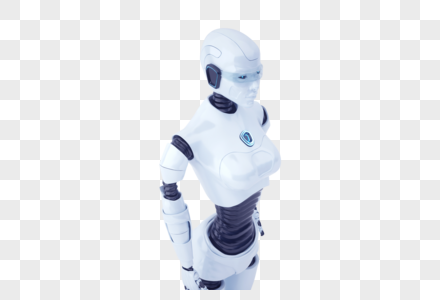 直立智能机器人图片
