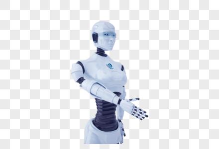 智能机器人握手图片