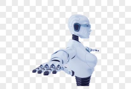 智能机器人伸开手臂图片