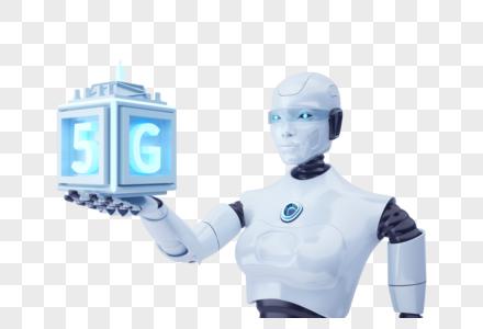 5g智能科技机器人图片