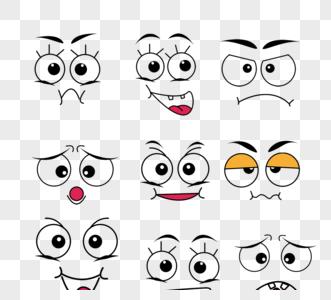 圆眼大眼可爱表情组图元素图片