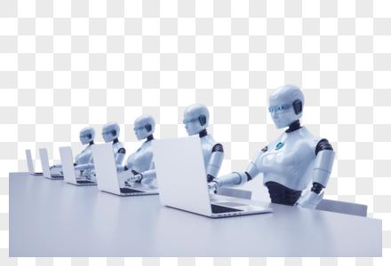 工作的智能机器人图片