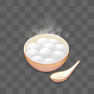 一碗热汤圆图片