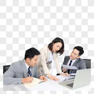 商务白领团队办公室里工作图片