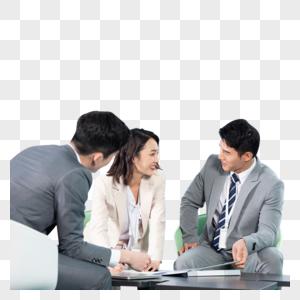 商务白领洽谈商业合同图片