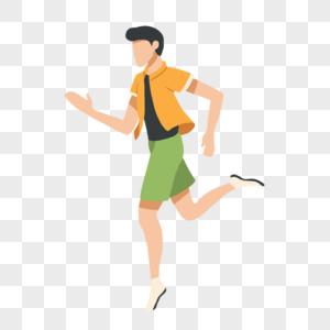 跑步的男孩图片