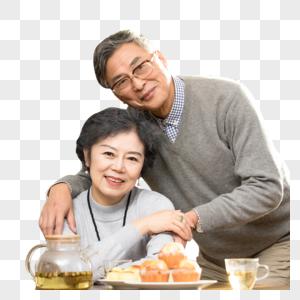 老年夫妻相依相伴图片