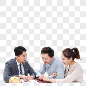 青年夫妻咨询理财顾问图片