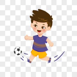 踢足球的男孩图片