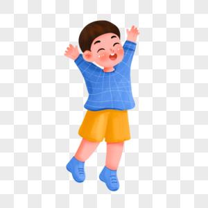 开心的男孩图片