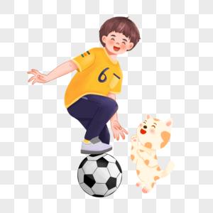 踢球的男孩图片
