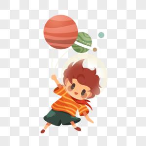 漂浮的男孩图片