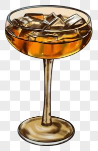 手绘夏季冰饮红茶元素图片
