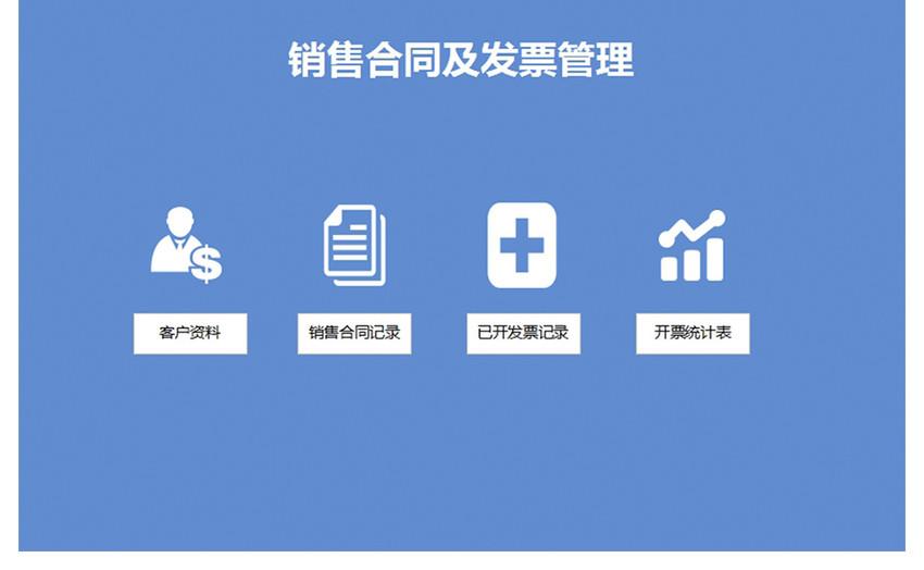销售合同及发票管理系统Excel模板图片