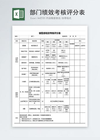 部门年度工作总结表_年度部门工作计划表excel模板图片-正版模板下载400153849-摄图网