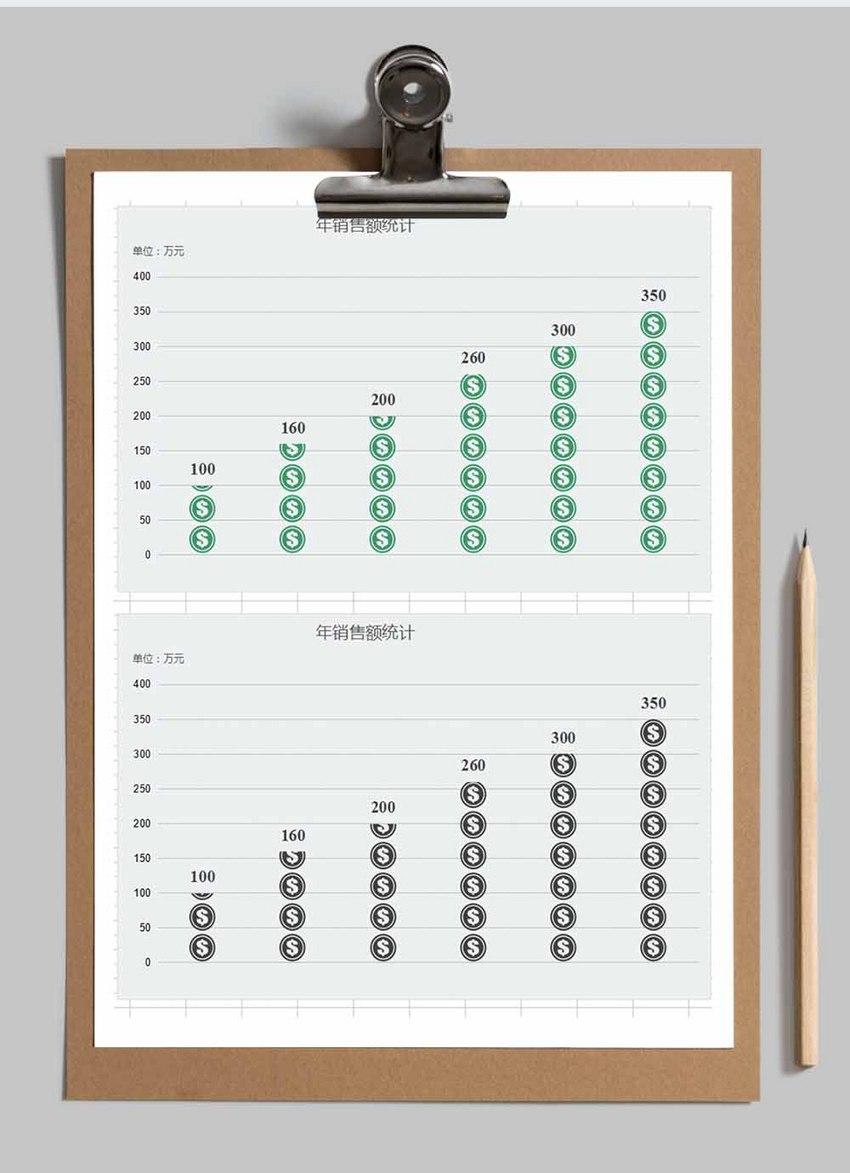 年度销售统计Excel模板图片