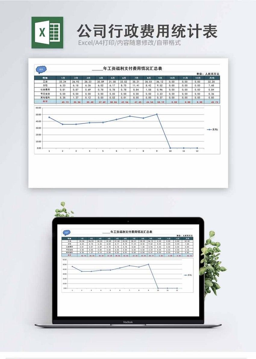 公司行政费用统计表Excel模板图片