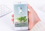 绿色环保手机海报配图图片