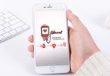 献血手机海报配图图片