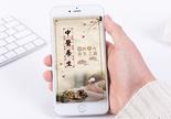 中医养身手机海报配图图片