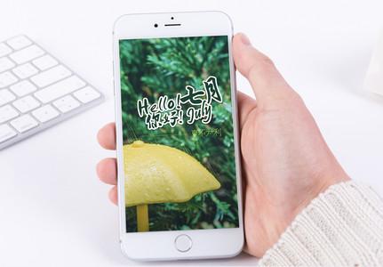 七月手机海报配图图片
