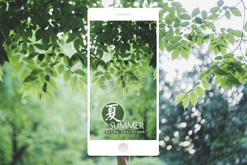 夏天手机海报图片