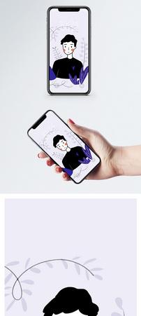 卡通情侣手机壁纸图片